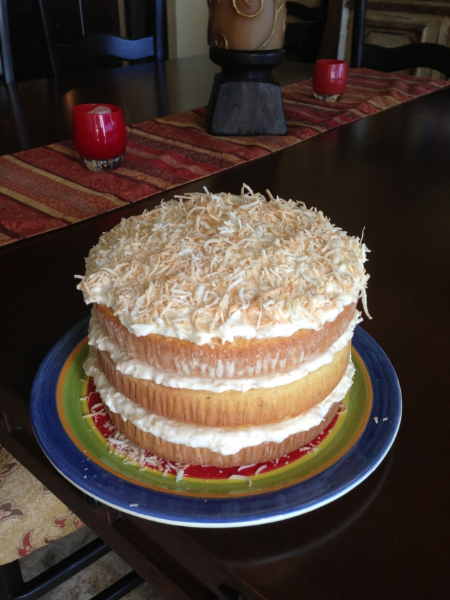 Kiki's Famous Coconut Cake from the Tyler Florence Family Meal cookbook.